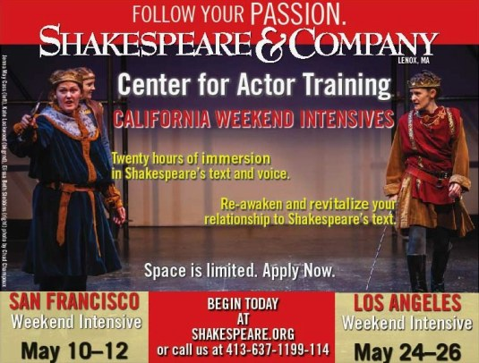 Shakespeare and Co Intensive 2013 2