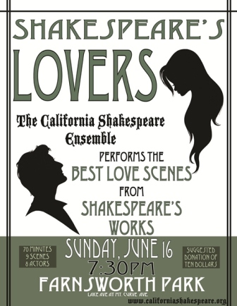 LOVERS, CA Shakespeare Ensemble