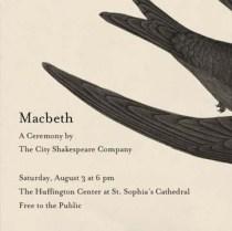 City Shakes Macbeth workshop