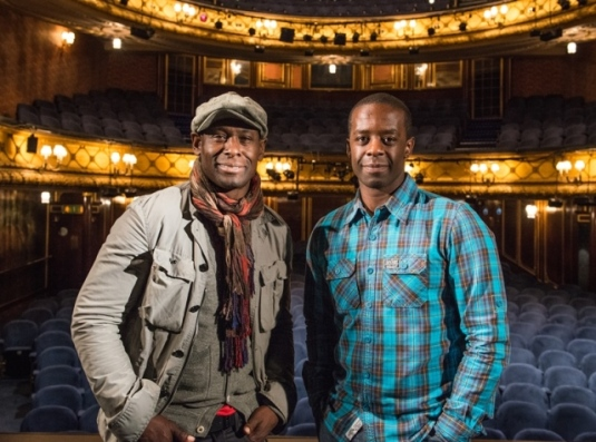 L-R: David Harewood and Adrian Lester at Theatre Royal, Haymarket, London. Photo credit: Andrea Southam